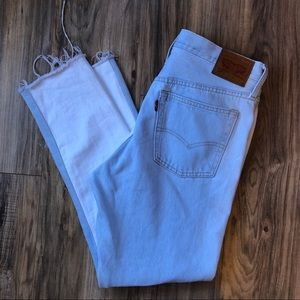 Levi's 501s Color Block High Rise Skinny Jeans 29